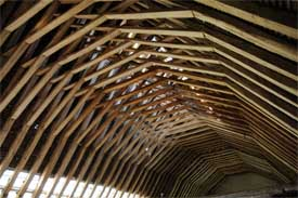 Roof Structure at Boxley Abbey Barn, Boxley, Maidstone