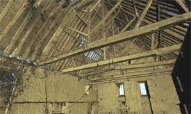 Laser Scan of Roof Structure - Boxley Abbey Barn, Boxley, Maidstone