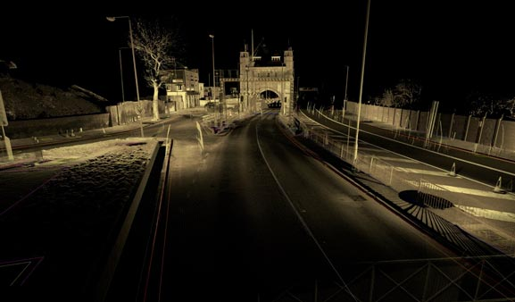 Laser Scanning of Blackwall Tunnel Approach