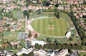 Birdseye of Kent County Cricket Ground, Canterbury
