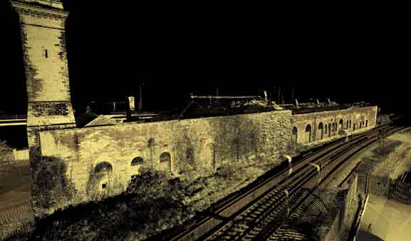 Laser Scan of Rear Elevation of Old Dover Harbour Railway Station