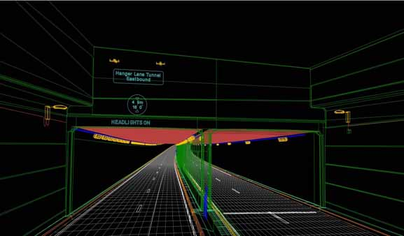 Hanger Lane Gyratory Underpass Wireframe Model