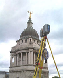 Faro Photon 120 Laser Scanner in use at The Old Bailey, London