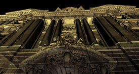Laser Scan of The Old Bailey, London Entrance